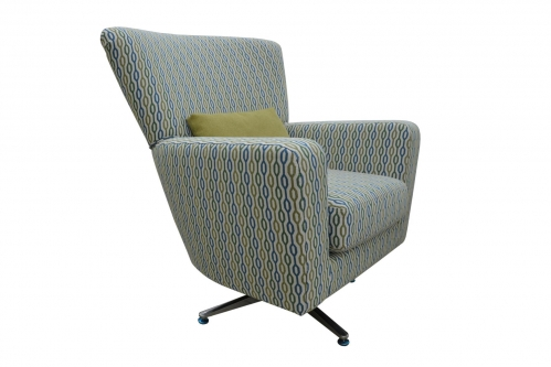 Sofia Swivel Chair in Patterned Fabric