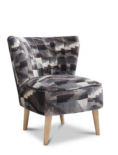 Paris Accent Chair - Kaleido Thunder