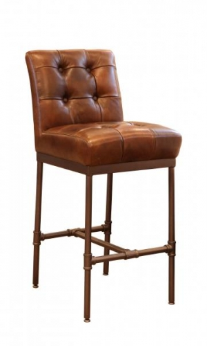 Brooklyn Buttoned Back Bar Stool