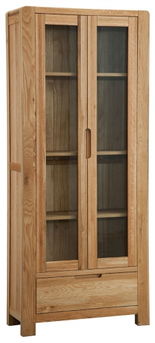 Kilburn Oiled Oak Display Cabinet