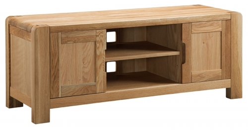 Kilburn Oiled Oak Tv Cabinet