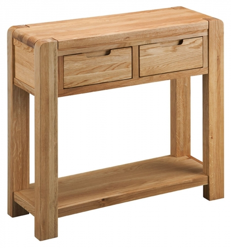 Kilburn Oiled Oak Console Table