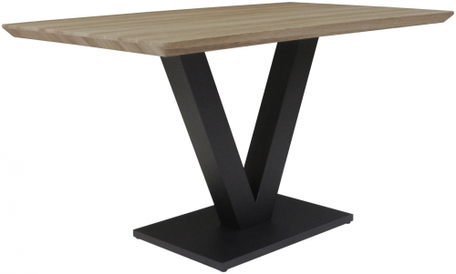 Telford Industrial Fixed Top Dining Table- Delta Finish