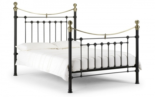 Victoria Stone Black Bed Double