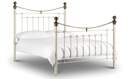 Victoria Stone White Bed Double