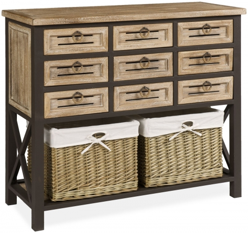 Viga 9 drawer Chest with Baskets