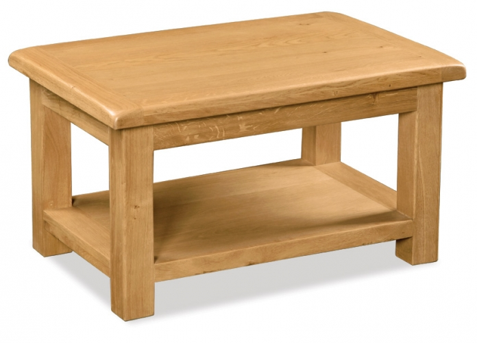 Country Rustic Waxed Oak Small Coffee Table