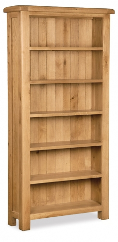 Country Rustic Waxed Oak Tall Bookcase