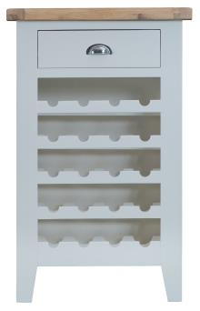 Thornton Painted Oak White Wine Cabinet