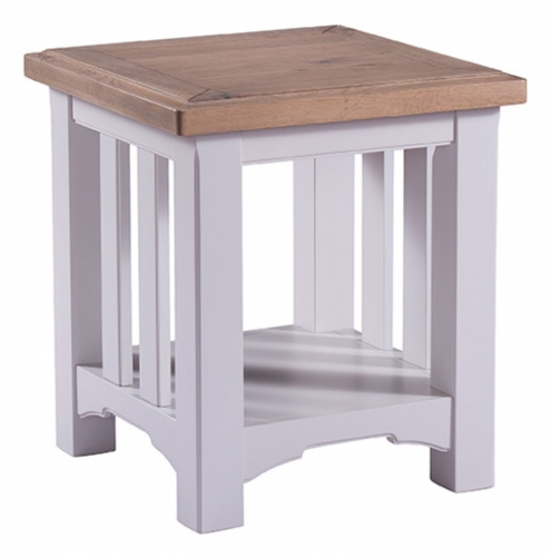 Hastings Grey Painted Lamp Table