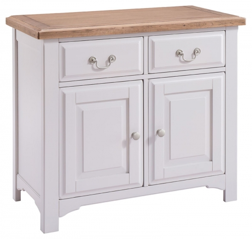 Hastings Grey Painted Small 2 Door 2 Drawer Sideboard