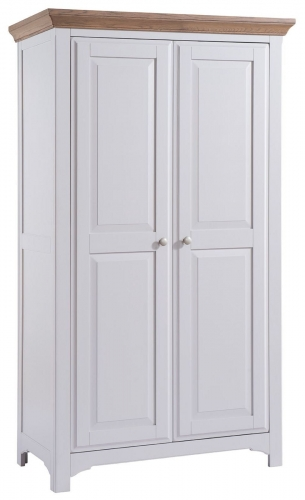 Hastings Grey Painted 2 Door Full Hanging Wardrobe