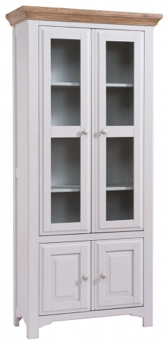 Hastings Grey Painted Glazed Bookcase