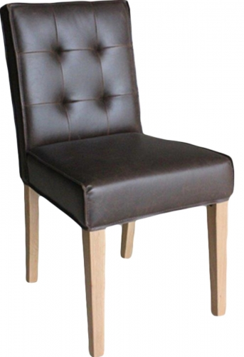 Club Oak Dining Chair - Brown