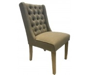 Belgravia Dining Chair In Almond Fabric