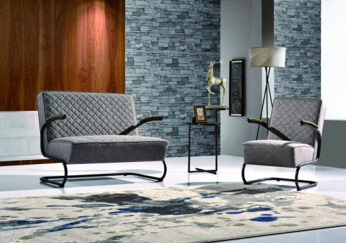 Zephyr Fabric 2 Seater Chair