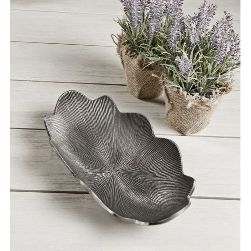 Zinc Antique Petal Bowl Aluminium