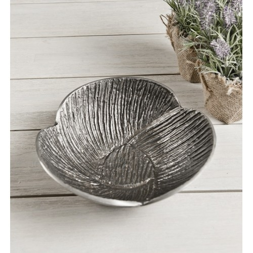 Zinc Petal Bowl Aluminium set of 2